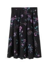 オリジナル花プリントフレアスカート