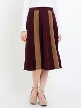 バイカラーミディ丈スカート