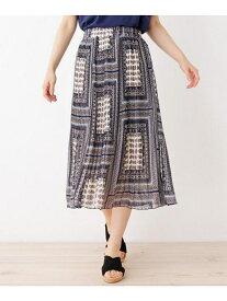 SHOO・LA・RUE ロングプリーツスカート シューラルー スカート ロングスカート ネイビー グリーン ホワイト ブラック
