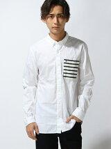(M)コットンロングスリーブシャツ