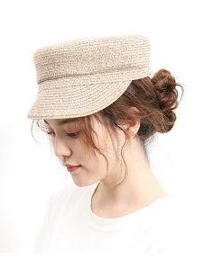 【SALE/60%OFF】ViS ウォッシャブルペーパー風キャスケット ビス 帽子/ヘア小物 帽子その他 ベージュ ブラック