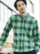 ネルチェックシャツ2