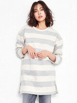 Border sweat Dress