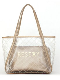 【SALE/50%OFF】RESEXXY RESEXXY/(W)クリアキルティング トートバッグ スタイルコード バッグ トートバッグ ゴールド