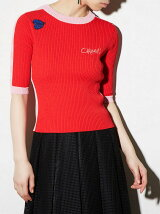 SIDE LINE CARMEN KNIT TOP