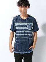 (M)インディゴボーダーPTTシャツ