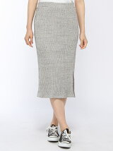 粗杢スリットタイトスカート