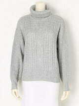 【BROWNY】(L)ケーブルタートルセーター