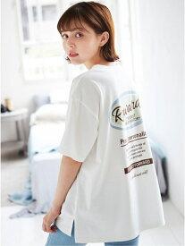 【SALE/50%OFF】INGNI バックサークルプリントTシャツ イング カットソー Tシャツ ホワイト ブラック グリーン ピンク