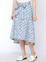 ストライプドットPTロングテールスカート