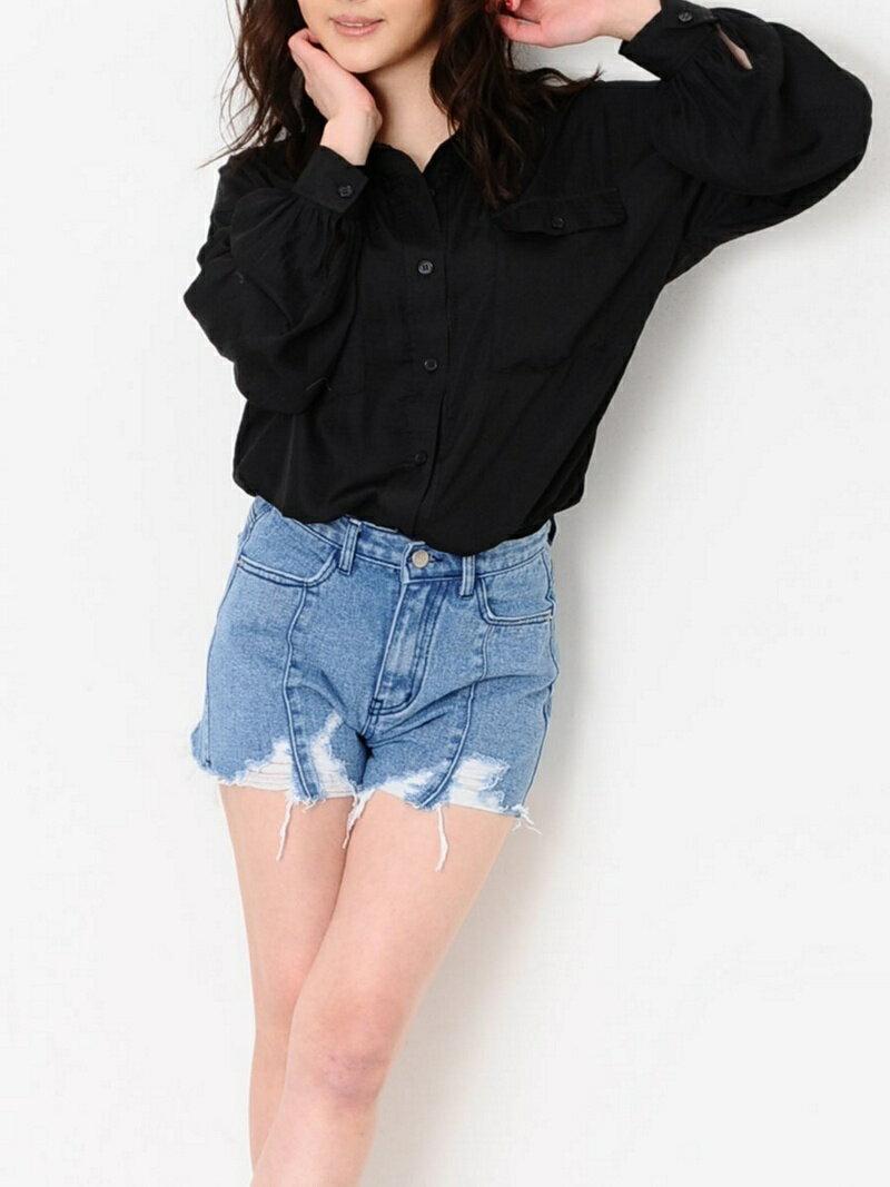 【SALE/30%OFF】EGOIST ボリュームサテンシャツ エゴイスト シャツ/ブラウス【RBA_S】【RBA_E】【送料無料】