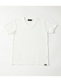 【SALE/50%OFF】AZUL by moussy 《8月7日まで期間限定価格》BIGWAFFLEVネックTシャツ アズールバイマウジー カットソー カットソーその他 ホワイト ブラック ピンク グレー
