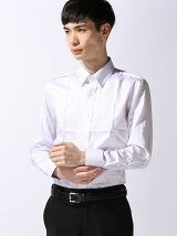 TETE HOMME/(M)カラーサテンスナップダウンシャツ
