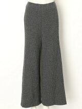 CASHMERE WAFFLE Flared Pants