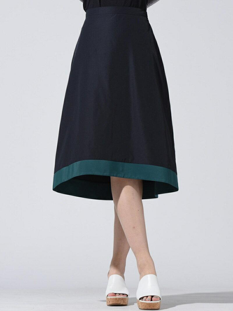 【SALE/60%OFF】Droite lautreamont バイカラータッサースカート ドロワット・ロートレアモン スカート【RBA_S】【RBA_E】【送料無料】