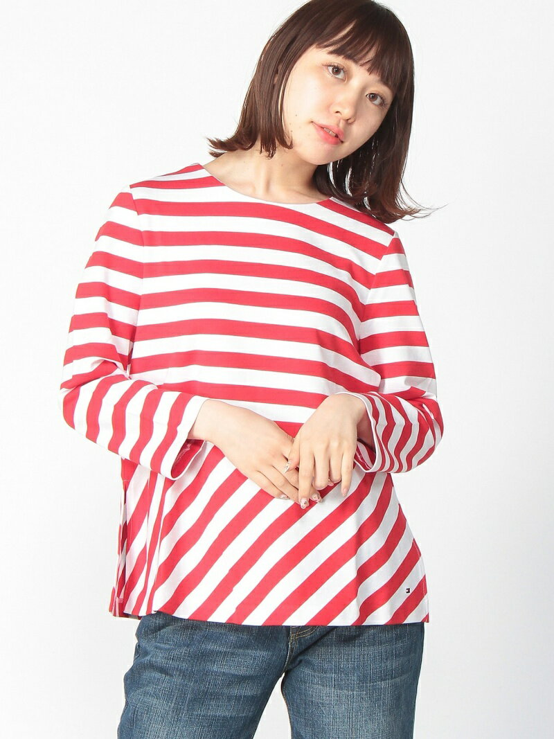 【SALE/40%OFF】TOMMY HILFIGER (W)ボーダークルーネックカットソー トミーヒルフィガー カットソー【RBA_S】【RBA_E】【送料無料】