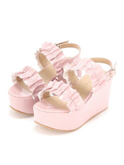 WEGO (L) frill enamel sandals we go
