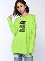 【BROWNY】(L)GIRLロゴプリントロンTシャツ