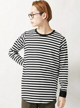 【BROWNY STANDARD】(M)カラーロングワッフルカットソー