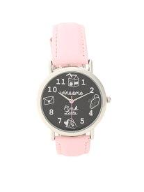 PINK-latte キュートフェイスカラーベルト腕時計 ピンク ラテ ファッショングッズ