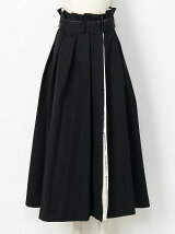 selvedge logo twillpaperbag waist skirt