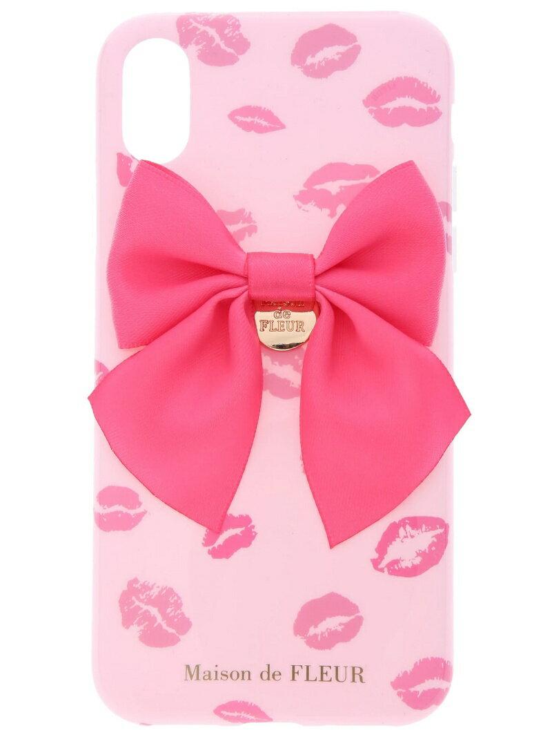 Maison de FLEUR 《WEB限定》iPhoneX ピンクリップマークケース メゾン ド フルール バッグ
