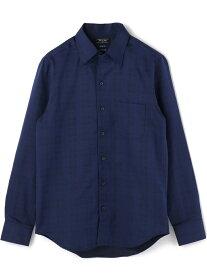 【SALE/50%OFF】MEN'S BIGI ドレスシャツ(ワイシャツ)ビジネス&パーティー メンズ ビギ シャツ/ブラウス 長袖シャツ ネイビー ホワイト【送料無料】