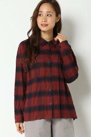 【SALE/60%OFF】ikka ビッグチェックシャツ イッカ シャツ/ブラウス シャツ/ブラウスその他 レッド ホワイト