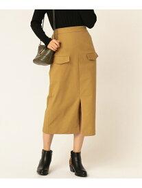 【SALE/50%OFF】TWO FACES フラップポケット付き タイトスカート トゥーフェイシーズ スカート スカートその他 ベージュ ブラック レッド