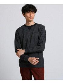 TAKEO KIKUCHI 【WEB限定】千鳥柄スウェット タケオキクチ カットソー Tシャツ ブラック ネイビー【送料無料】