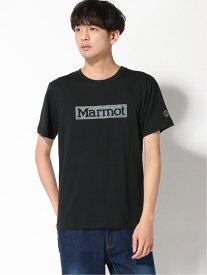 【SALE/30%OFF】Marmot (M)SQUARE LOGO H/S CREW マーモット カットソー Tシャツ ブラック イエロー ネイビー ホワイト