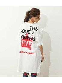 【SALE/30%OFF】RODEO CROWNS WIDE BOWL Spray crownビッグTシャツワンピース ロデオクラウンズワイドボウル ワンピース ワンピースその他 ホワイト ブラック グリーン オレンジ