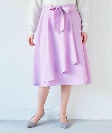 【SALE/33%OFF】a.v.v イレギュラーヘムラップデザインスカート[WEB限定サイズ] アー・ヴェ・ヴェ スカート スカートその他 パープル ネイビー【送料無料】