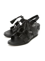 (W)GLADDIE LACE-UP LEATHER SANDAL (PERF)