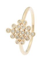ダイヤモンド ベゼルセットひし形 リング