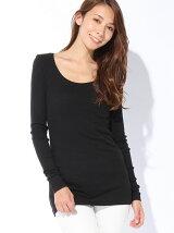 (W)テレコロングTシャツ・カットソーDDF2