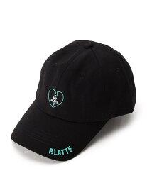【SALE/50%OFF】PINK-latte コットンハートロゴキャップ ピンク ラテ 帽子/ヘア小物 キャップ ブラック レッド ネイビー
