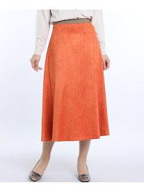 I.T.'S. international フェイクスエードフレアスカート《KOMASUEDE》【steady9月号掲載】 イッツインターナショナル スカート フレアスカート オレンジ レッド ベージュ イエロー【送料無料】