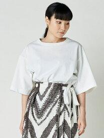 styling/ オープンバックカットトップス スタイリング カットソー Tシャツ ホワイト ブラック【送料無料】