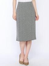 (W)ヘリンボーンタイトニットスカート