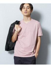【SALE/60%OFF】nano・universe BRING COVEROSS ロゴVネックTシャツ ナノユニバース カットソー Tシャツ ピンク グリーン ホワイト