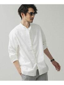 【SALE/20%OFF】nano・universe 1タックワイドバンドカラーシャツ ナノユニバース シャツ/ブラウス シャツ/ブラウスその他 ホワイト ベージュ ネイビー【送料無料】