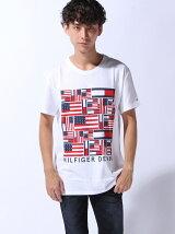 (M)Hilfiger Denim/アイコニックフラグTシャツ