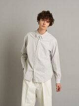 <Steven Alan> BLUE/STRIPE REVERSE SEAM SHIRT-BOLD/シャツ