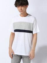 【JUNIOR SWEET】(M)チェスト2段ニット切替Tシャツ