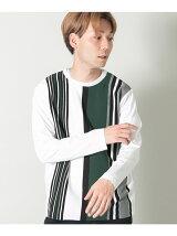 ランダムストライプロングスリーブTシャツ