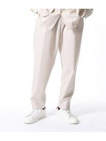 ADAM ET ROPE' 【NIKKE】CELL SERGE パンツ アダムエロペ パンツ/ジーンズ スラックス/ドレスパンツ ホワイト ブラック【送料無料】
