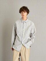 <Steven Alan> LEGGIUNO/CHECK REGULAR COLLAR BOX SHIRT-LOOSE/シャツ