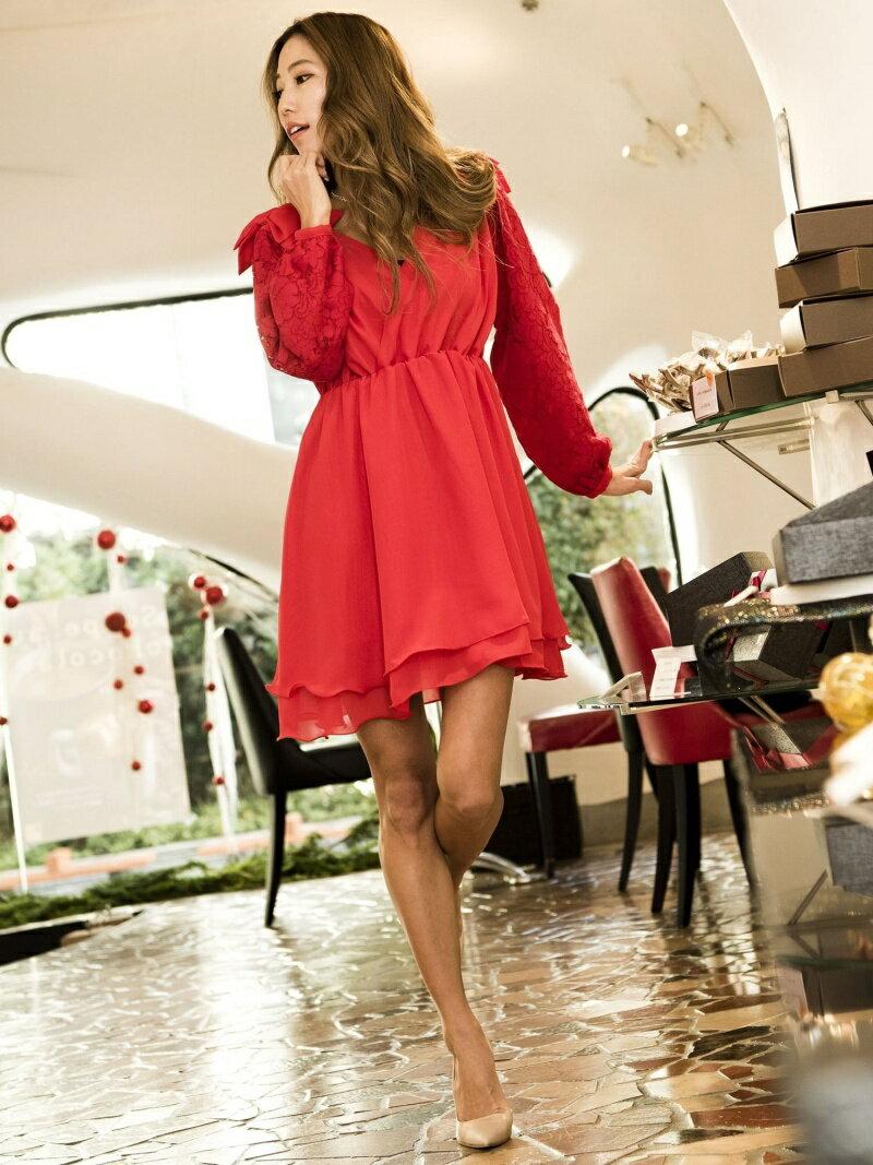 【SALE/30%OFF】Million Carats ショルダーリボンワンピース[DRESS/ドレス] ミリオンカラッツ ワンピース【RBA_S】【RBA_E】【送料無料】