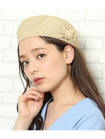 【SALE/50%OFF】ROPE' PICNIC PASSAGE サイドリボンペーパーベレー ロペピクニック 帽子/ヘア小物 ベレー帽 ホワイト ベージュ